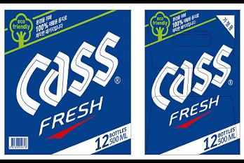 카스, 주류업계 최초 '100% 재생용지'로 패키지 리뉴얼
